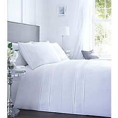 Debenhams - White pleat 'Malone' bedding set