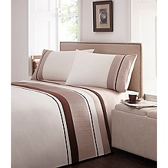 Debenhams - Natural pleat 'Maya' bedding set