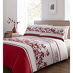 Debenhams - Red floral 'Effie' bedding set