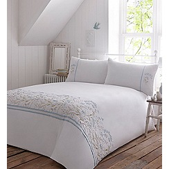 Debenhams - White embroidered ' Olivia' bedding set