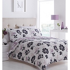 Debenhams - White floral 'Kitaro' bedding set