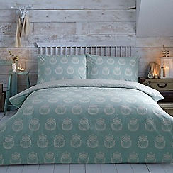 Home Collection - Aqua brushed owl bedding set