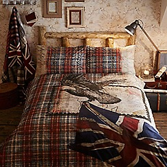 Home Collection - Cream 'Eagle map' bedding