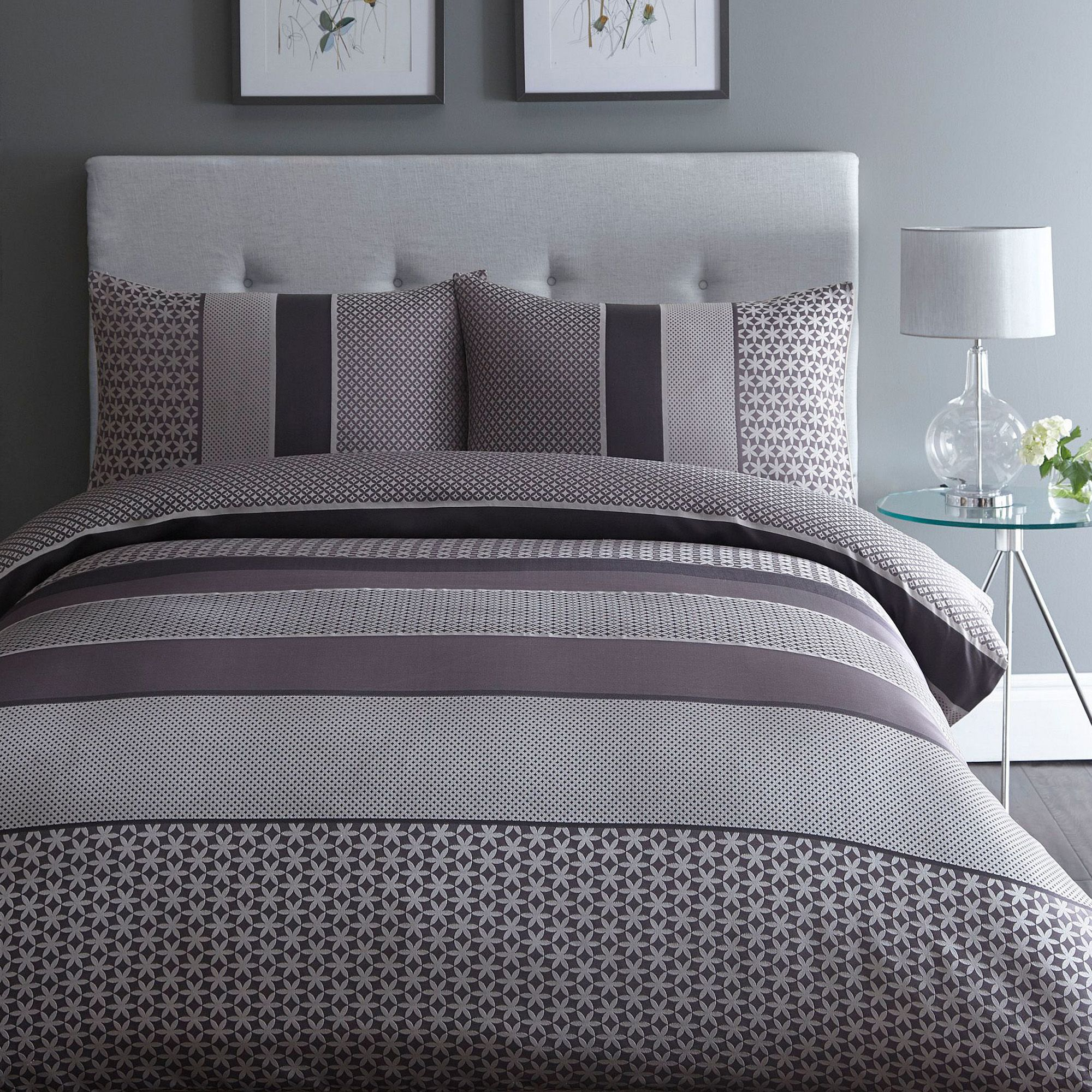 Home Collection Purple Jacquard Adelle Bedding Set From
