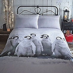 Home Collection - Snowy christmas penguin bedding set