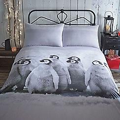 Home Collection - Snowy christmas penguin bedding set