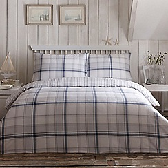 Home Collection - Blue checked bedding set