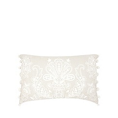 Home Collection - Pale grey embroidered cushion