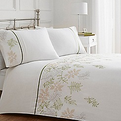 Home Collection - White leaf print bedding set