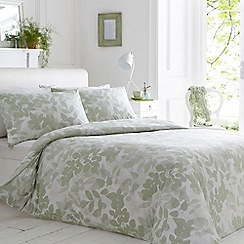 Home Collection - Green leaf print bedding set