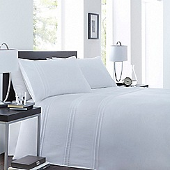 Home Collection - White textured line bedding set
