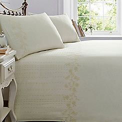 Home Collection - Cream daisy trim bedding set