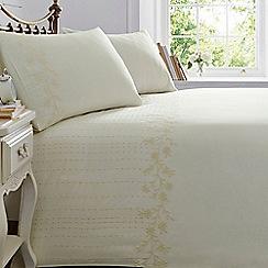 Home Collection - Cream daisy trim bedding set