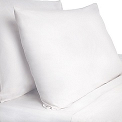Dorma - White pure cotton fitted sheet and pillow case set