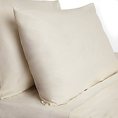 Dorma - Cream pure cotton fitted sheet and pillow case set