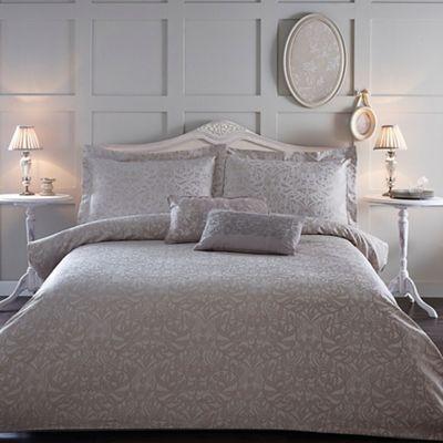 Home Collection Natural Jacquard 39 Georgia 39 Bedding Set Debenhams