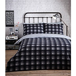 Home Collection - Multi-coloured brushed cotton checked 'Frankie' bedding set