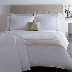 J by Jasper Conran - White and gold 'Belgravia' bed linen
