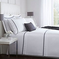 J by Jasper Conran - White and blue 'Babbington' bed linen
