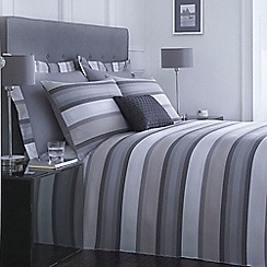 J by Jasper Conran - Grey and blue striped 'Bingham' bed linen
