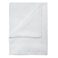 J by Jasper Conran - White textured cotton bedspread