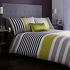 J by Jasper Conran - Green striped 'Pimlico' bed linen
