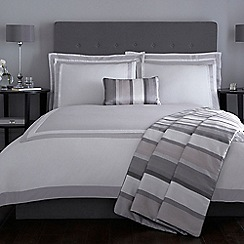 J by Jasper Conran - Grey and white 'Langham' bed linen