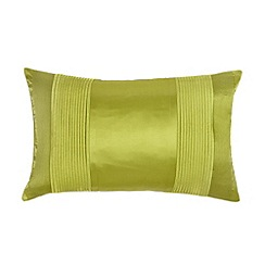 J by Jasper Conran - Designer green pintucked satin cushion