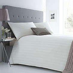J by Jasper Conran - Cream 'Sateen Stripe' duvet set