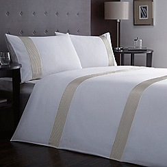 J by Jasper Conran - White pleated detail 'Aldwych' bedding set