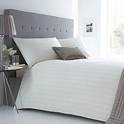 J by Jasper Conran - Cream 'Sateen Stripe' bed linen