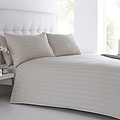 J by Jasper Conran - Natural 'Sateen Stripe' duvet cover and pillow case