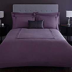 J by Jasper Conran - Designer purple 'Mason' pintuck bed linen