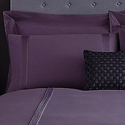 J by Jasper Conran - Purple 'Mason' pillow case pair