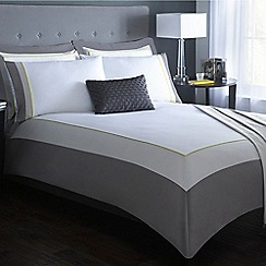 J by Jasper Conran - Designer white 'Wilton' block colour bedding