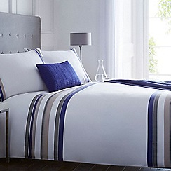 J by Jasper Conran - Designer white 'Pelham' striped bedding