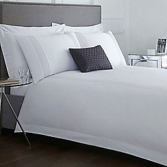 J by Jasper Conran - Designer white 'Elswick' embroidered detail bedding