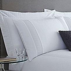 J by Jasper Conran - Silver 'Elswick' Oxford pillow case pair