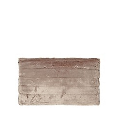 J by Jasper Conran - Natural carved faux fur cushion