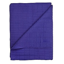 J by Jasper Conran - Bright blue quilted throw