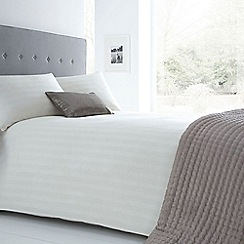 J by Jasper Conran - Designer cream striped cotton blend bedding set