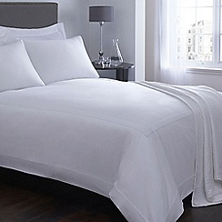 J by Jasper Conran - White 'Eaton' sateen bed linen