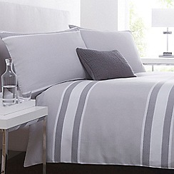 J by Jasper Conran - White striped 'Brompton' bed linen