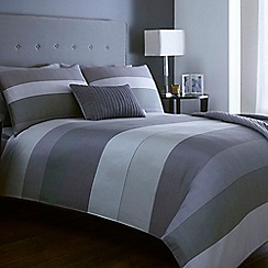 J by Jasper Conran - Grey striped 'Warwick' bed linen