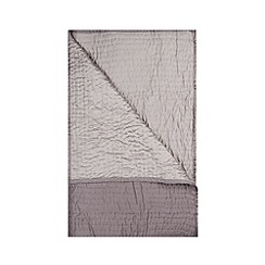 J by Jasper Conran - Dark grey hand stitched throw
