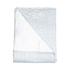 J by Jasper Conran - Light blue hand stitched throw