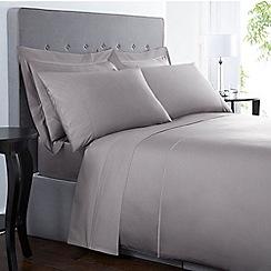 Designers at Debenhams - Grey 500 thread count Supima cotton duvet cover