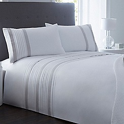 J by Jasper Conran - White and grey pleated bedding set