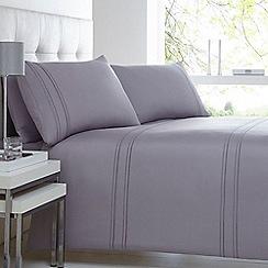 J by Jasper Conran - Purple striped bedding set