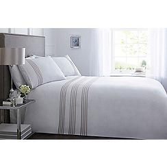 J by Jasper Conran - White pleat 'Highbury' 300 thread count bedding set